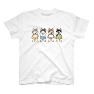 おパンツハスキー T-shirts