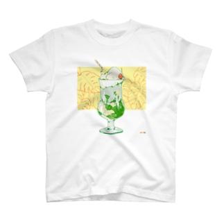 午前のクリームソーダ T-shirts
