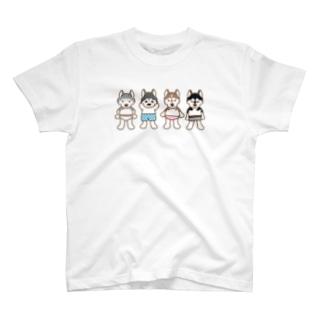 おパンツハスキー2 T-shirts