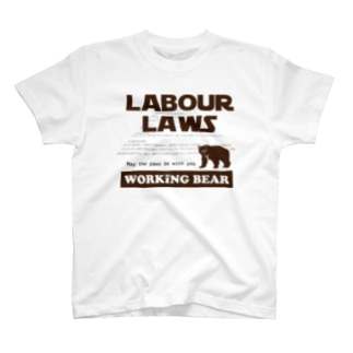 【WORKING BEAR】LABOUR LAWS T-shirts