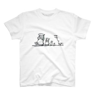ペンギンおもしろTシャツ・魚ドロボー T-shirts