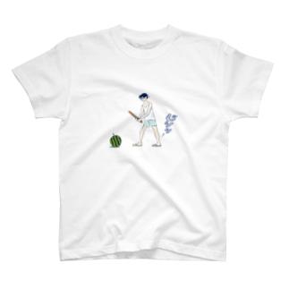 島田つか沙のじりり…すいか割り T-shirts