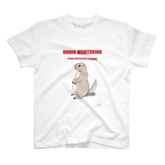プレーリードッグ監視中(赤色) T-shirts