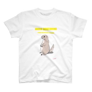 プレーリードッグ監視中(黄色) T-shirts