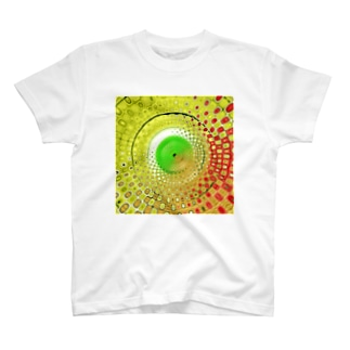 Yellow Greenの世界 in kaleidoscope T-shirts