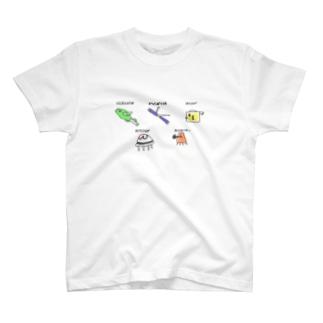 じゃぐりんぐ海のなかまたち T-shirts