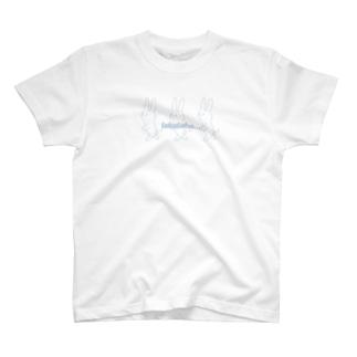 てくてくウサギ Chobby.ーskyblue T-shirts