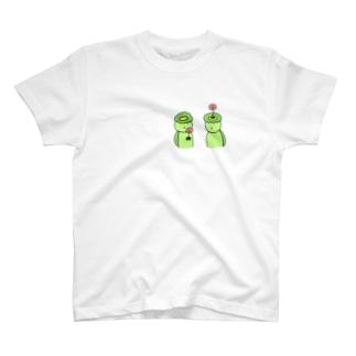 生け花かっぱTシャツ T-shirts