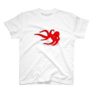 タコ被り猫 吠 T-shirts