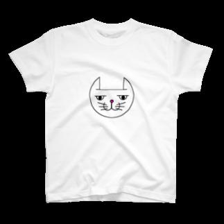 ヒロさんのグッズのネコだお(カラー) T-shirts