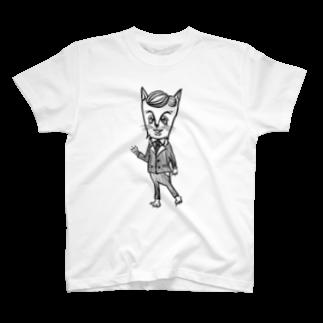 tottoのおじさまネコ(リーマン) T-shirts