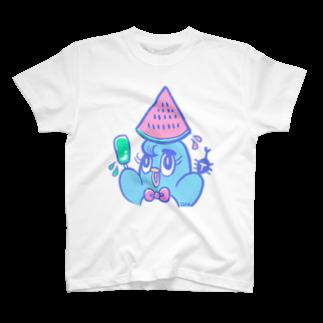 えるたまのスイカエルピー T-shirts