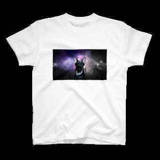 狂気のいぬ屋さんの宇宙犬 T-shirts