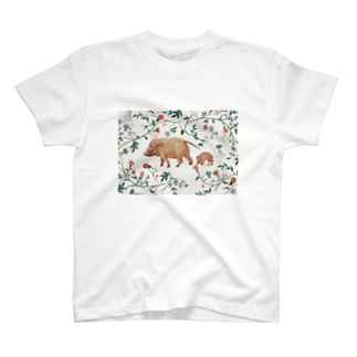 ヨAのイノシシ × ハナ T-shirts