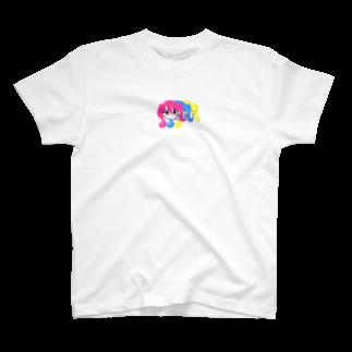 キッシーのカラフルな女の子 T-shirts
