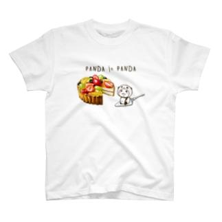パンダinぱんだ(フルーツタルトホール) T-shirts