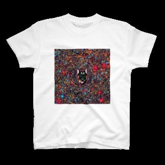 狂気のいぬ屋さんの宇宙犬02 T-shirts