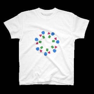 fuuku-sのしかくまるさんかく T-shirts
