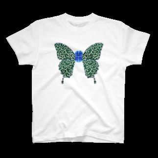 R.MUTT2019の唐草脳蝶 T-shirts