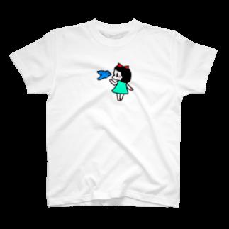 reddreamの青い鳥と女の子 T-shirts