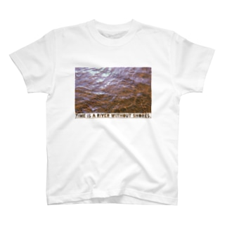 Time is a river without shores. T-shirts