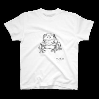 HELLL - ヘル - の左手で描いたカエルA T-shirts