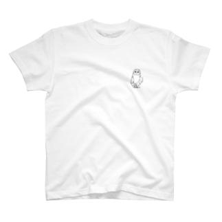 左手で描いたメンフクロウ(両面) T-shirts