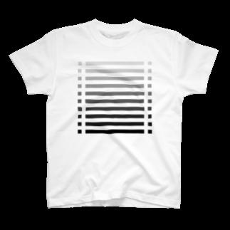 cooLunaのcolor bar - monochrome - T-shirts