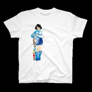 CGC HARDENDUROのHARD ENDURO GIRL/BLUE T-shirts