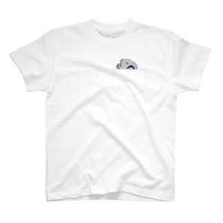 Lichtmuhleのポケットでネンネするモルモットのイラスト04 T-shirts