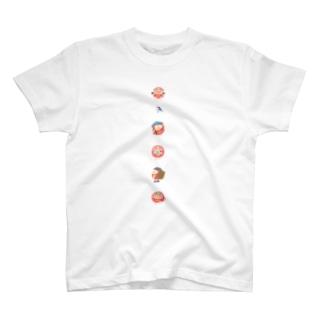 ピクニック(カラフル半そで) T-shirts