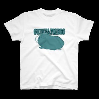 nins・にんずのguinea pig bro テディモルモット T-shirts