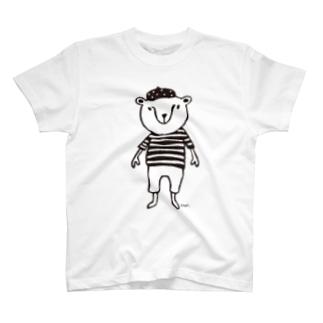 くまきち(ベレーボーダー) T-shirts