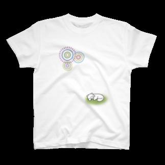 大林ゆこの花火とにゃんこ T-shirts