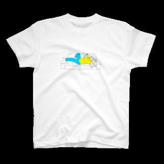 にゃーこのメガネ男子 T-shirts