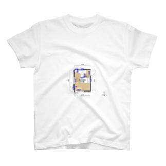 俺の部屋ホワイト T-shirts