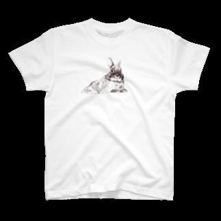 ヒラノマキコの2018.12月うさぎ T-shirts
