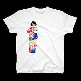 CGC HARDENDUROのHARD ENDURO GIRL/RED BLUE T-shirts
