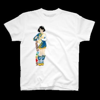 CGC HARDENDUROのHARD ENDURO GIRL/YELLOW BLUE T-shirts