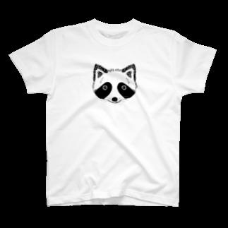 HINAGOROUのもふもふたぬき T-shirts