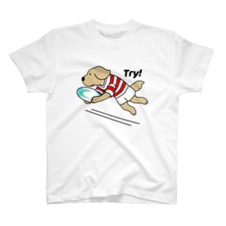 ラグビー1(前面) T-shirts