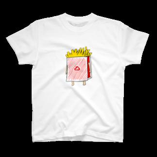 ハウス万手観音のふてぶてしいポテトTシャツ T-shirts