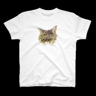 ヒラノマキコの2018.09月ねこ T-shirts