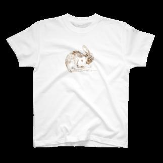ヒラノマキコの2018.03月うさぎ T-shirts
