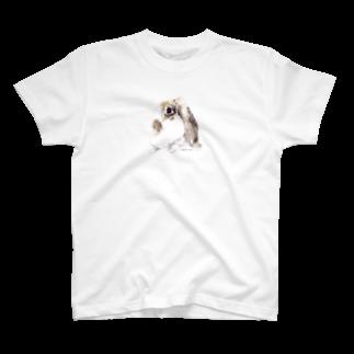 ヒラノマキコの2018.06月うさぎ T-shirts