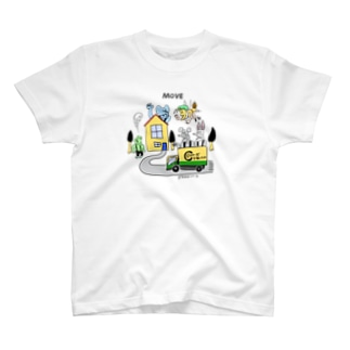 STUDIO KIKUCHIのどうぶつーズ引っ越しセンタ T-shirts