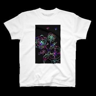 yuka sugita SAKUSHIのゼンタングル×スクラッチアート風 T-shirts