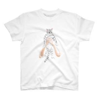 TAKUMの抱きネコ T-shirts