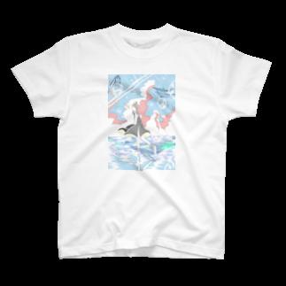 ハリネズミのぽたの海のスケートリンク T-shirts