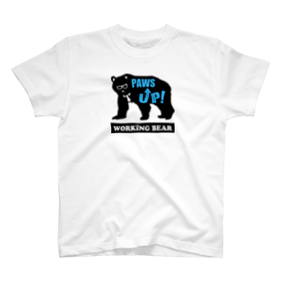 WORKING BEARの【WORKING BEAR】Paws Up! Blue ver T-shirts